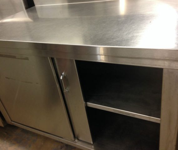 Commercial Stainless Steel Table With Cups Dispenser Mb