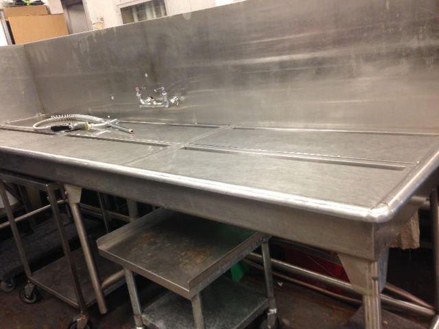 Commercial Stainless Steel Preparation Sink Amp Table Mb