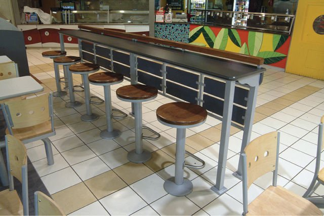 Hauser bolt down bar stools mb food equipment for Food bar somerset mb