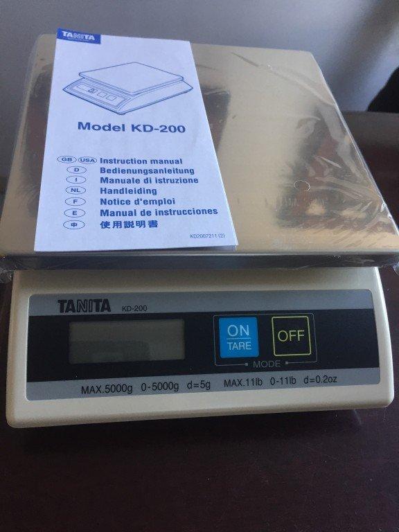 tanita model kd-200 portable electronic digital scale