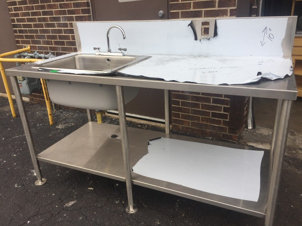 Stainless Steel Table 68x30 Inches With Sink Mb Food