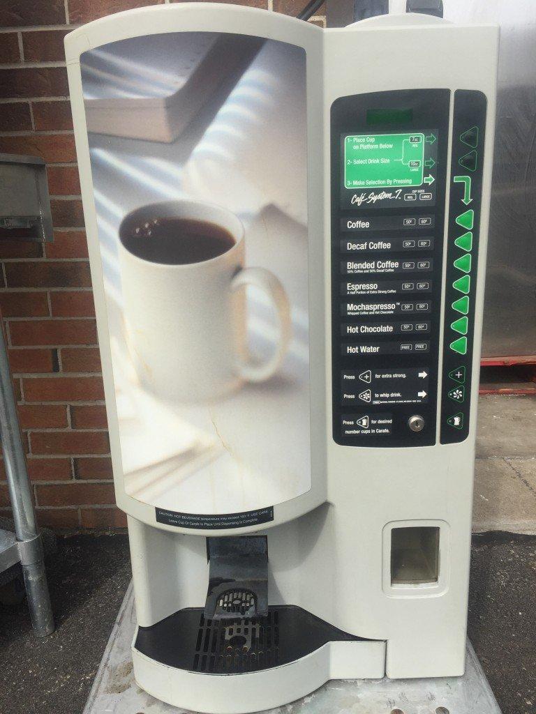 Crane National Vendors 640 Cafe System 7 Coffee Vending