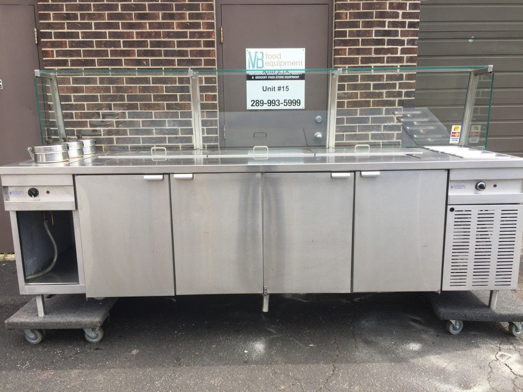 Stainless Steel Refrigerated Preptable With 2 Warmers And