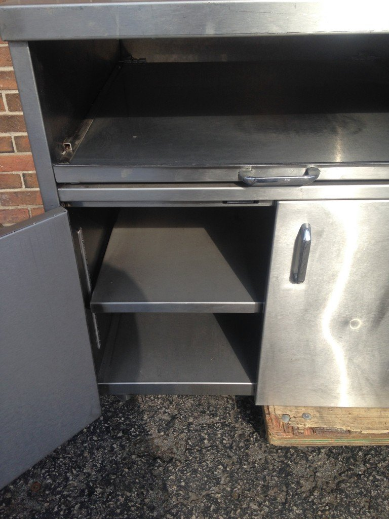 Stainless Steel Table With Slide Out Shelves Mb Food