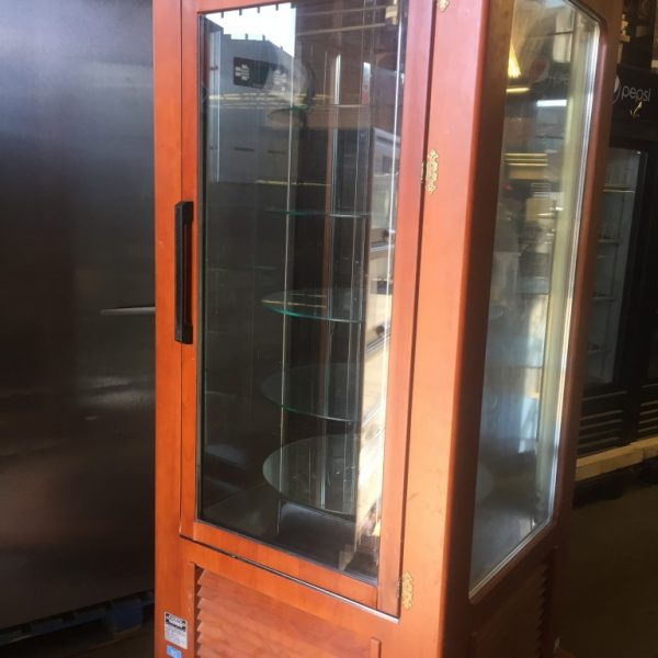 Igloo Vertical Refrigerated Pastry Case Wood Finish Mb