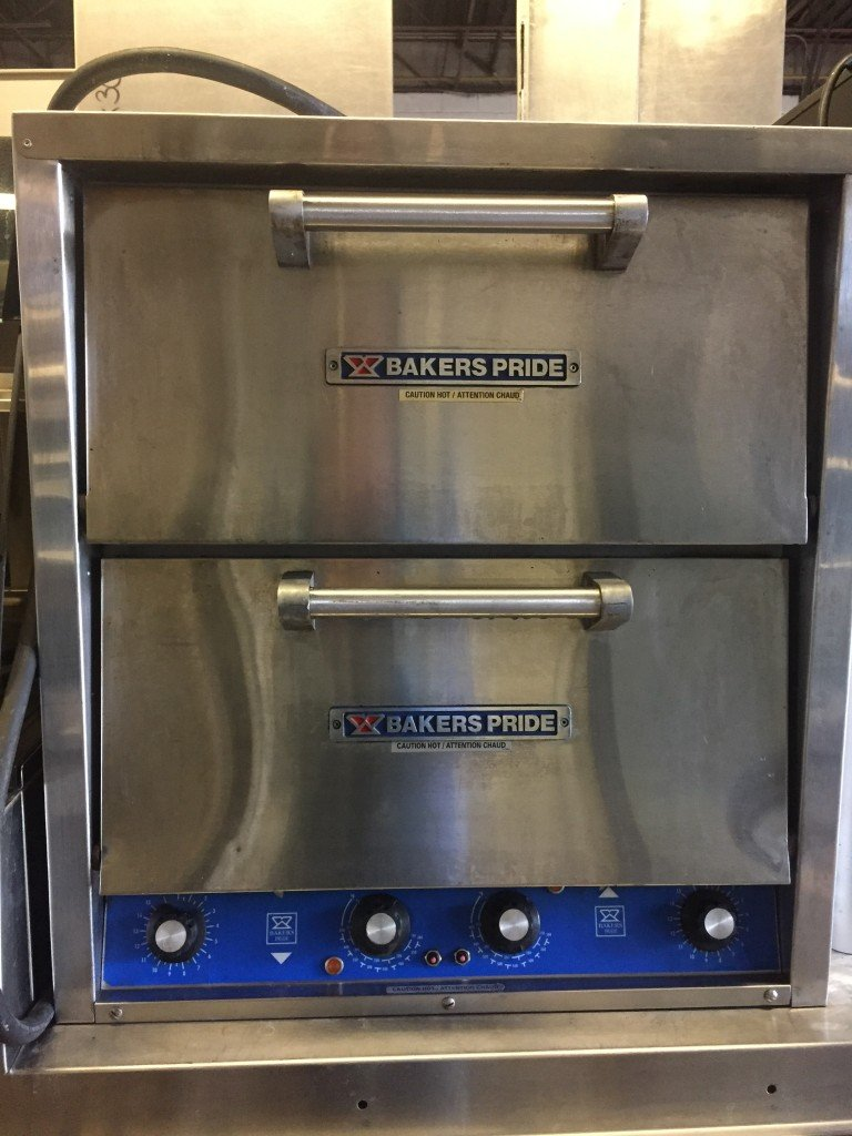 Used Pizza Ovens For Sale >> Bakers Pride P44 Brick Lined Electric Countertop Pizza And