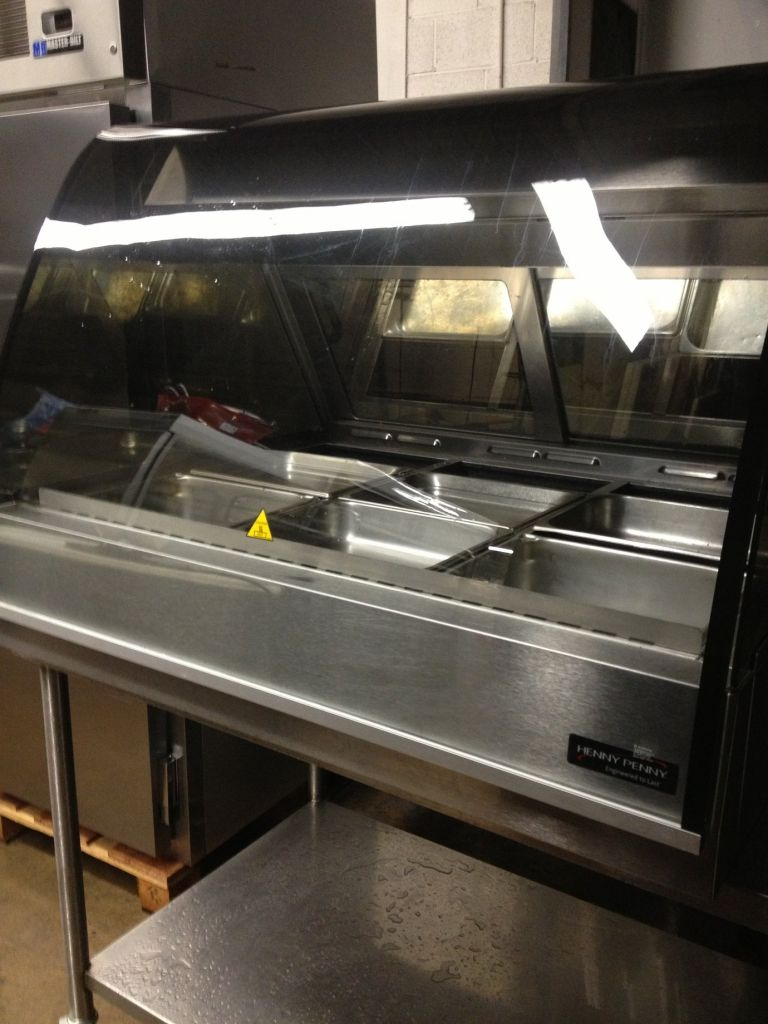 Henny Penny Hmr 3 Hot Food Curved Front Glass Display Merchandiser Mb Food Equipment