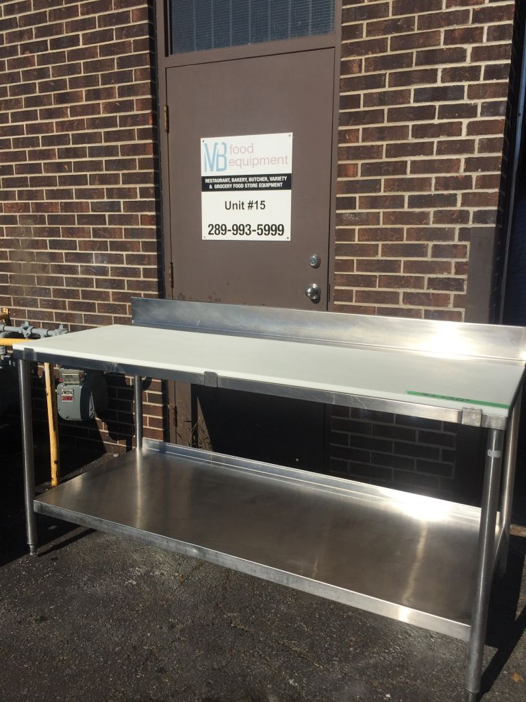 Commercial Stainless Steel Butcher Table With Cutting
